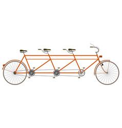 triplet bike vector image
