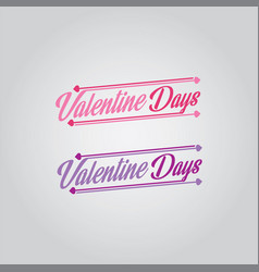 Valentine day font logo vector