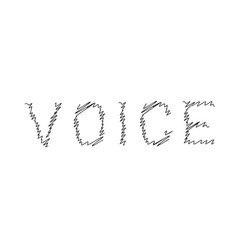Voice scribble line logo vector