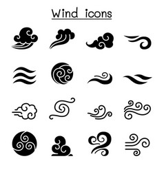 Wind icon set vector