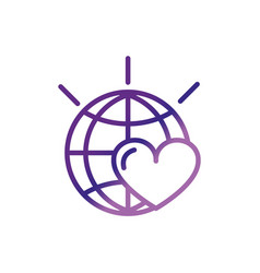World love heart campaign charity help donation vector