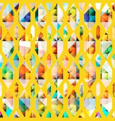 Yellow diamond geometric pattern vector