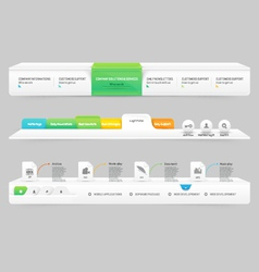 Business Website template infographic design menu vector image