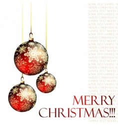Christmas ornate balls vector image vector image