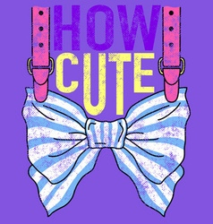 CUTE BOW vector image vector image