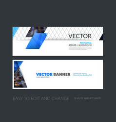 set of modern horizontal website banners vector image