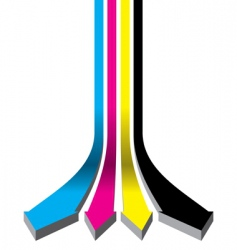 CMYK arrows vector image
