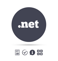 domain net sign icon top-level internet domain vector image