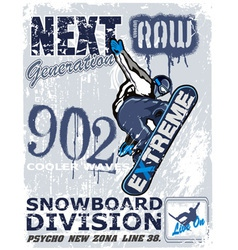 extreme snow boarder Revise vector image vector image