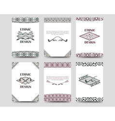 Native american style borders cards vector