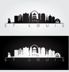 st louis usa skyline and landmarks silhouette vector image