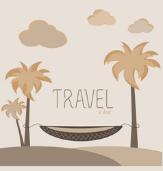 Travel is love vector
