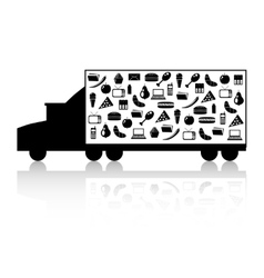 truck with goods vector image vector image