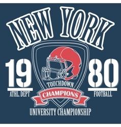 Athletic sport typography sportswear t-shirt vector