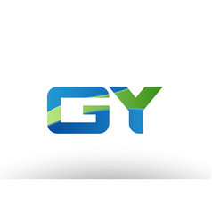 blue green gy g y alphabet letter logo vector image vector image