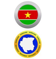 button as a symbol Suriname vector image