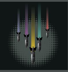 cartoon air bomb vector image