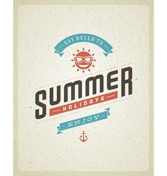 Retro summer design poster vector image vector image