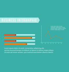 Business infographic with line graph collection vector