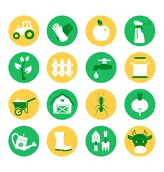 Farm and ranch Gardening icons set vector image vector image