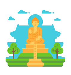 flat design tian tan buddha vector image