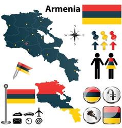 Map of Armenia vector image