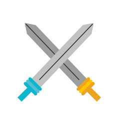 sword weapon warrior game vector image vector image