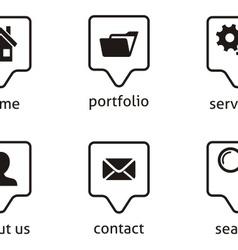 Website menu icons vector image vector image