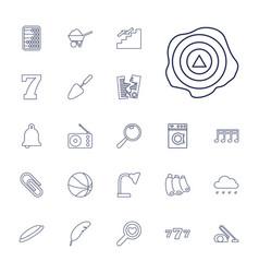 22 single icons vector