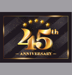 45 years anniversary celebration logo 45th vector image