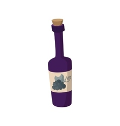 a bottle wine icon cartoon style vector image