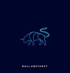 Abstract bull template vector