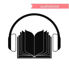 Audiobook icon vector
