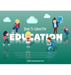 Back to school for education banner vector