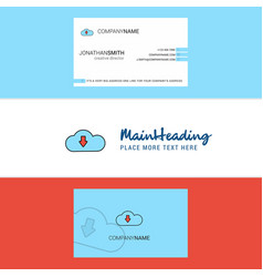 beautiful downloading logo and business card vector image