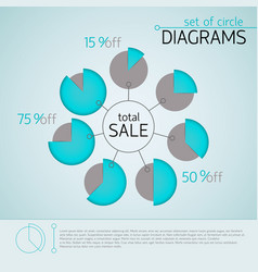 blue business diagram template vector image
