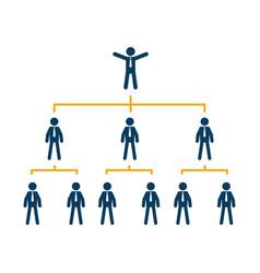 business organization chart tree company corporate vector image