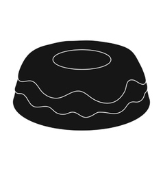 Cake icon in black style isolated on white vector image
