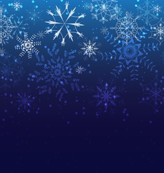 Christmas background greeting card with snowflakes vector