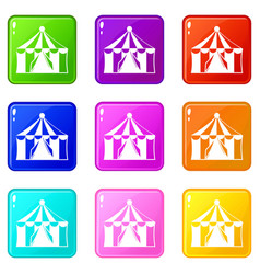 Circus tent set 9 vector