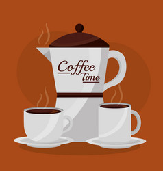 coffee time related vector image