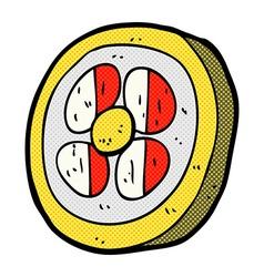 Comic cartoon medieval shield vector