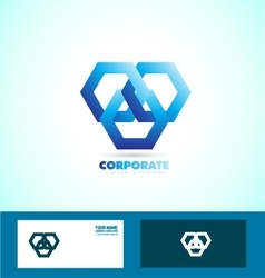 Corporate business looped logo sign icon vector