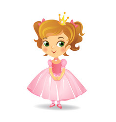 cute little princess vector image