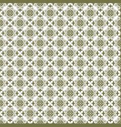 Dark khaki damask seamless pattern backdrop vector