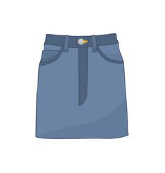 denim skirt fashion style item vector image