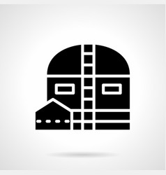Depot glyph style icon vector