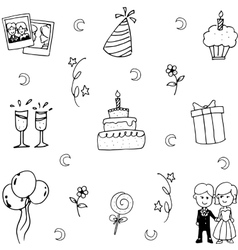 Doodle art party element vector