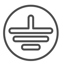 Electrical grounding line icon electric earthing vector