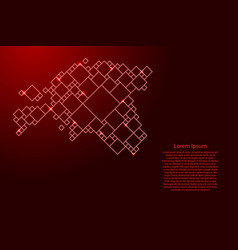 Estonia map from red pattern from a grid of vector